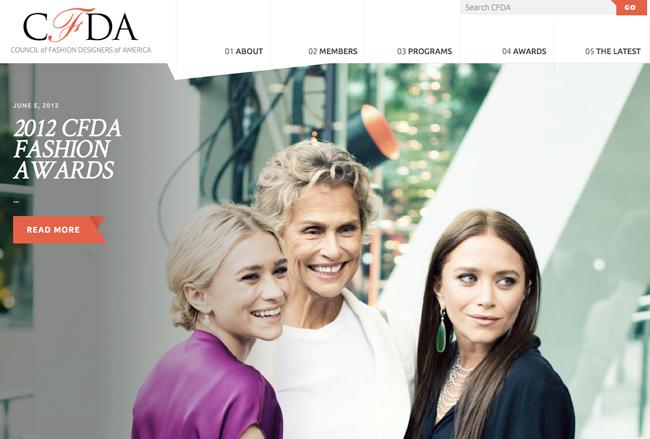 ファッション界のオスカー賞といわれる「CFDAファッションアワード」の2012年受賞者が発表。オルセン姉妹、川久保玲、フィリップ・リムなどが受賞