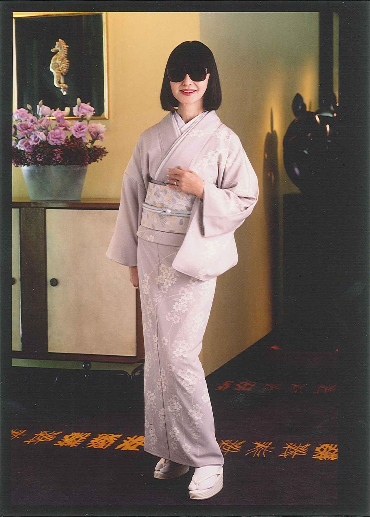 着物運動から 大内順子氏自身のブランドの着物で