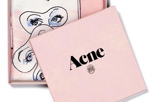 Acne (アクネ) が日本初となる南青山の旗艦店オープンを記念し、イラストレーター ベンジャミン・サイドラーとのコラボレーション・スカーフを限定販売