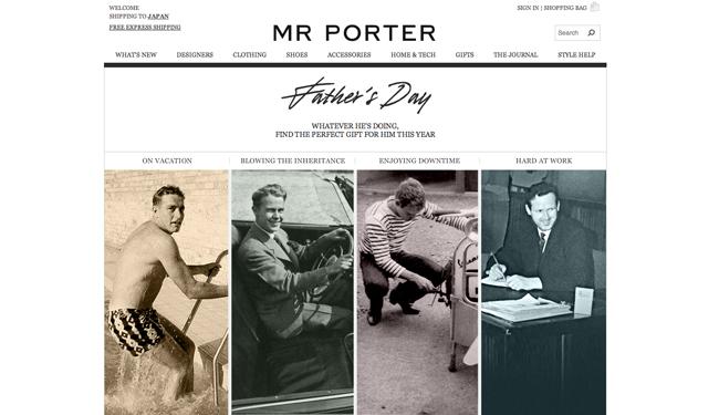 MR PORTER (ミスター・ポーター) が父の日向けのキャンペーン Instagram (インスタグラム) コンテストを開催
