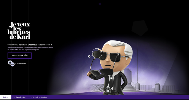 Karl Lagerfeld (カール・ラガーフェルド) のオンライン・ゲームが公開中