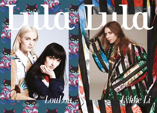 ula magazine covers featuring Say LouLou and Lykke Li. Photo: George Harvey/Andreas Larsson