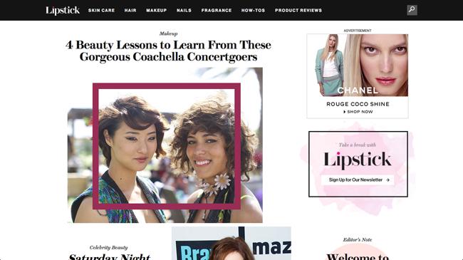 Glamour誌がデジタル・ビューティサイト『Lipstick.com (リップスティック)』をローンチ