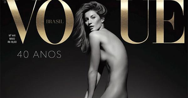 世界で最も影響力を持つモデル、Gisele Bündchen (ジゼル・ブンチェン) が『Vogue Brasil (ヴォーグ・ブラジル)』 のカバーでフルヌードを披露