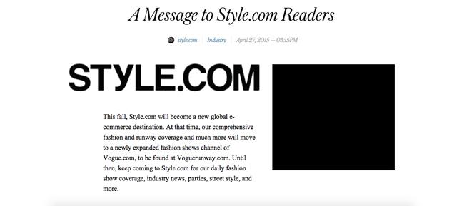 Style.com (スタイルドットコム) が待望のオンラインショップをローンチ