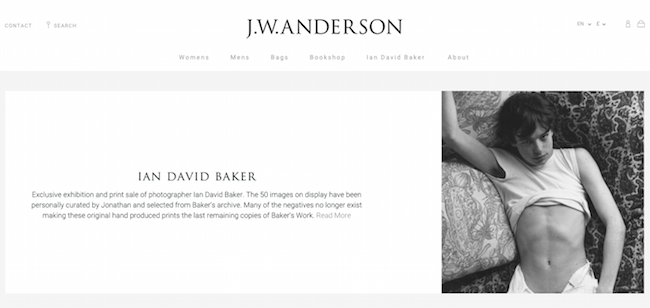 J.W. Anderson (J.W.アンダーソン) オンラインストア1周年を記念してオンラインエキシビションを開催