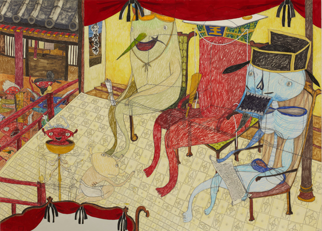 昨年の六甲ミーツ・アートでグランプリに選ばれたアーティスト、三宅信太郎の個展が六本木で開催