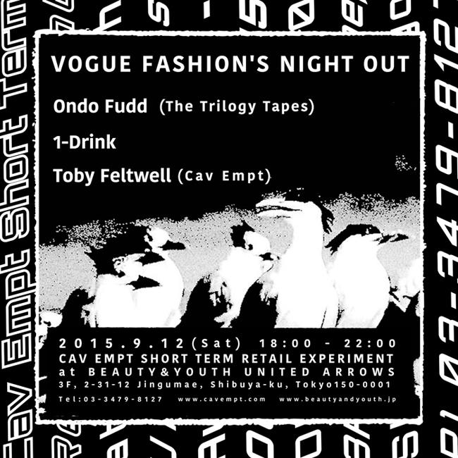 C.E の期間限定店が「FASHION'S NIGHT OUT」に参加。ベルリンから音楽プロデューサーOndo Fuddが来日
