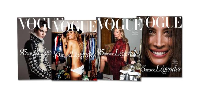 フランス版『Vogue (ヴォーグ)』が創刊95周年、表紙には新旧スーパーモデル4名が起用
