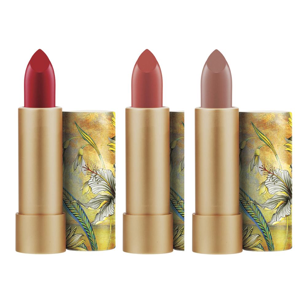 M・A・C × Guo Pei リップスティック (左から) ブレイブレッド、エセリアル・オーキッド、ゼニス 各 ¥ 5,400 ※10月2日より数量限定発売