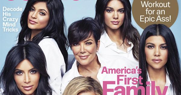 『Cosmopolitan (コスモポリタン)』50周年記念号、表紙に Kim Kardashian  (キム・カーダシアン) ファミリーが大集合