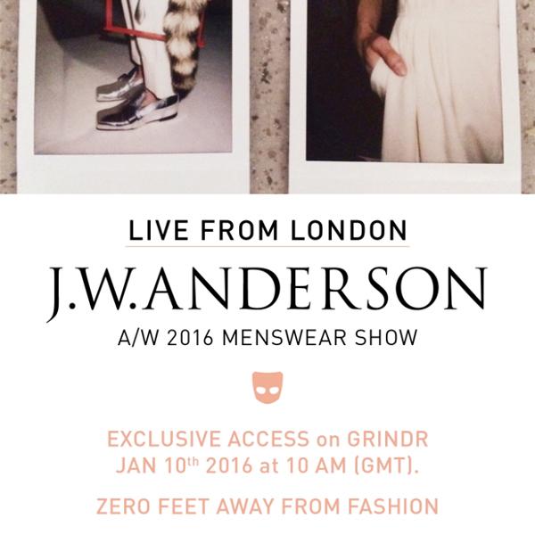 J.W.Anderson (J.W.アンダーソン) が史上初、ゲイアプリでファッションショーのライブ配信を敢行