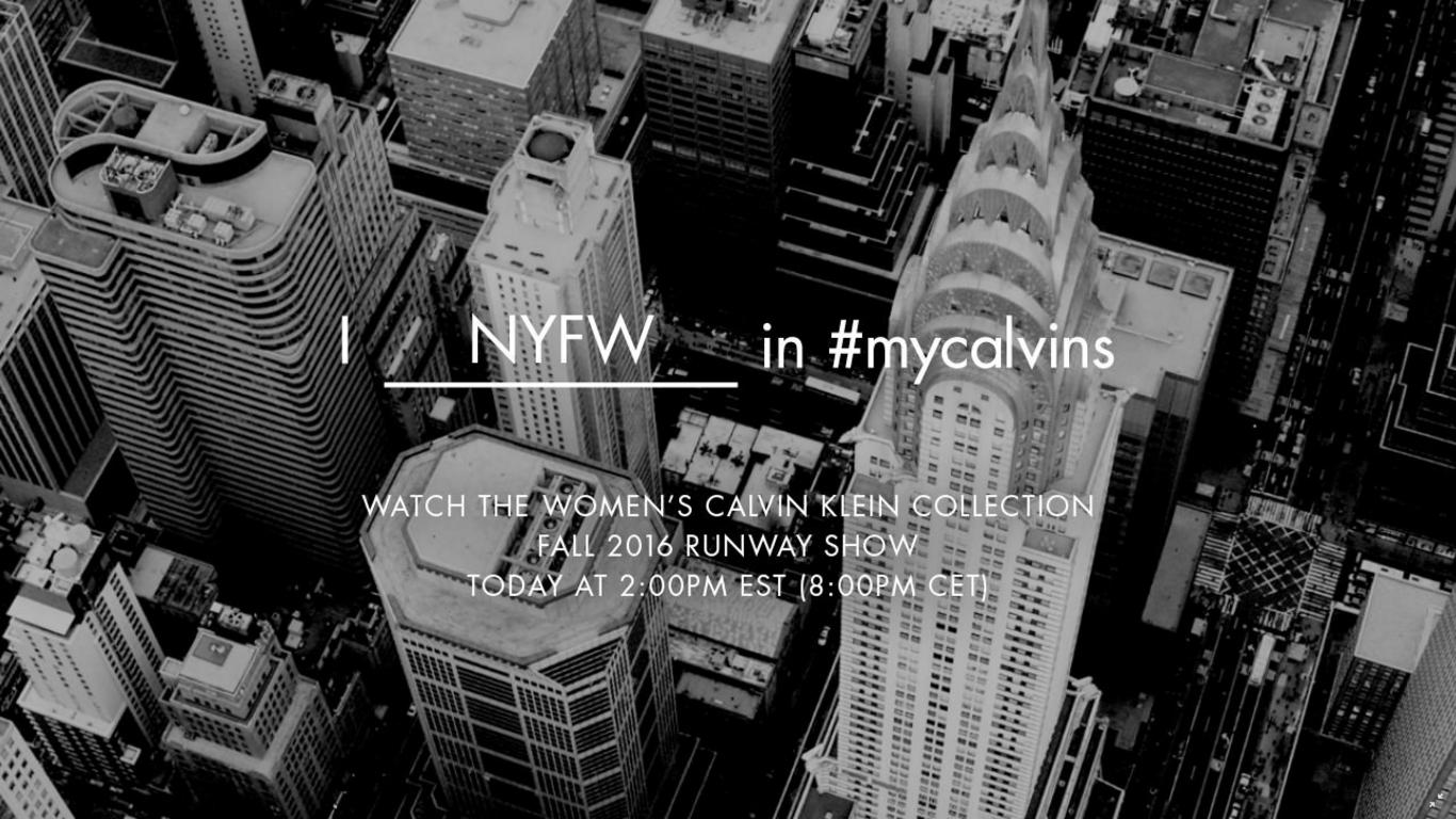 【生中継】Calvin Klein Collection (カルバン・クライン コレクション) 2016-17年秋冬コレクションがライブストリーミングで配信