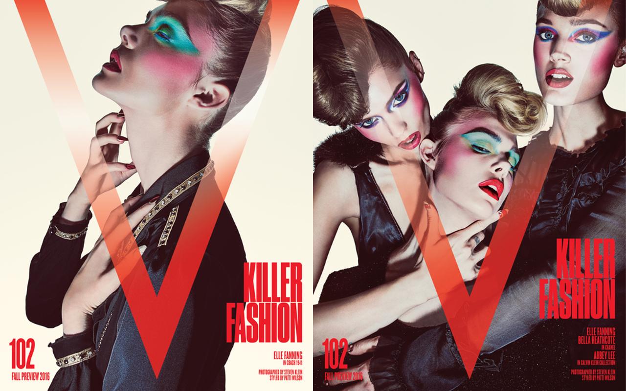 映画『The Neon Demon』が『V Magazine』をハイジャック、Elle Fanning (エル・ファニング) が最新号のカバーに