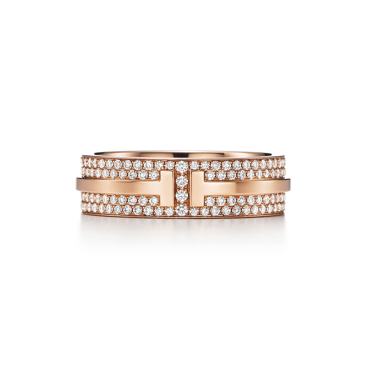 「ティファニー・ティー・ツー」パヴェ ダイヤモンド リング (18KRG、ダイヤ) ¥890,000