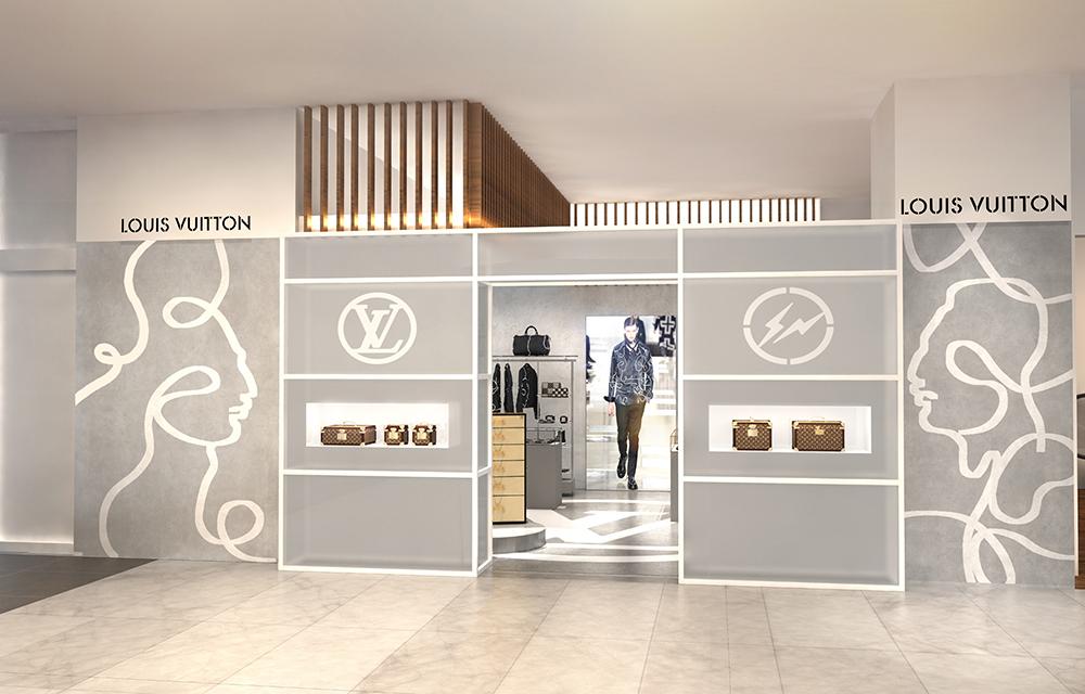 Louis Vuitton と fragment design のコラボによる店舗ディスプレイ | © Louis Vuitton