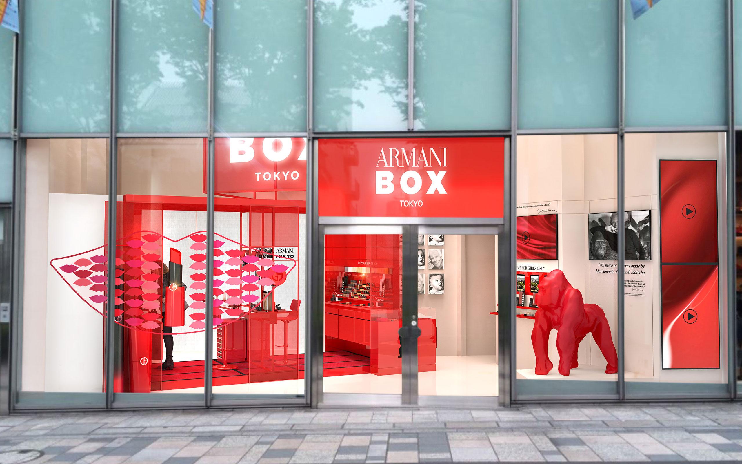 Giorgio Armani Beauty Opens 'Armani Box' At Omotesando Hills