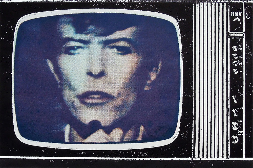 © BOWIE TV No. 1 1981 by JOHN DOVE and MOLLY WHITE Screenprint