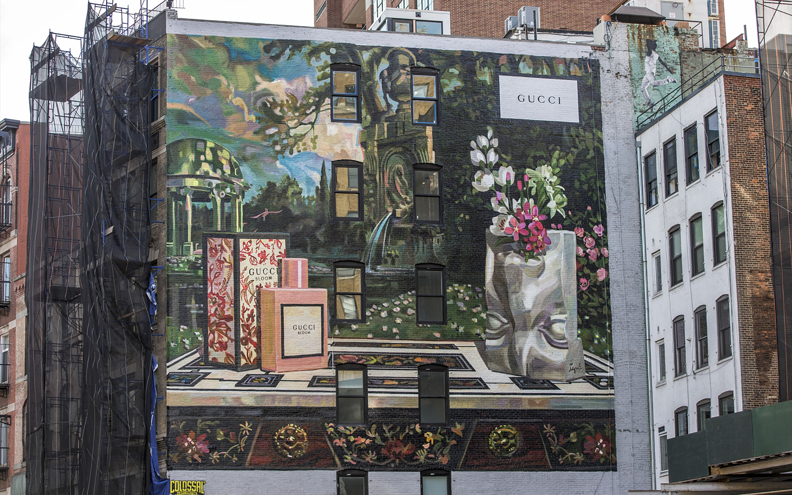 Gucci Launched New Art Wall Project 'Gucci Bloom'