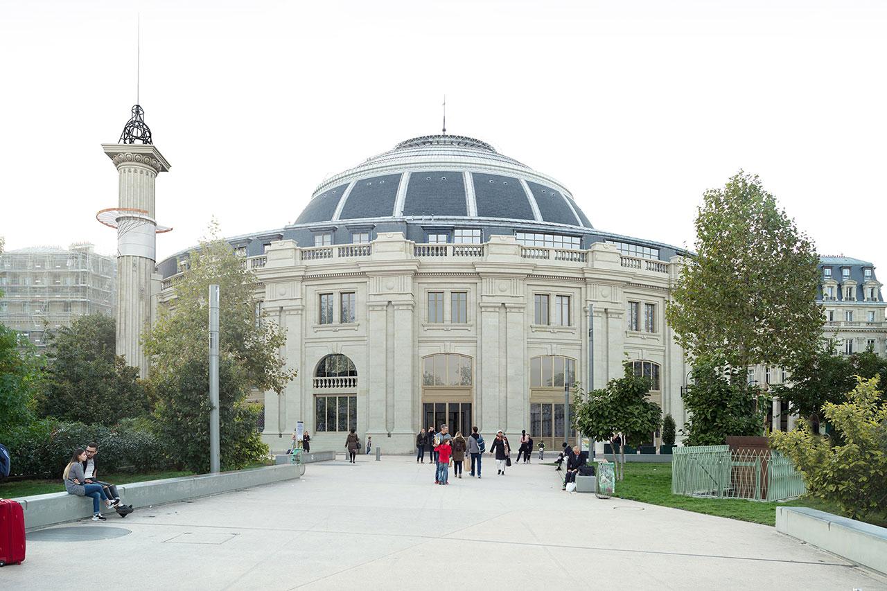 「コレクション・ピノー・パリ」(2016年〜)Rendering of the facade from the jardin des Halles.© Artefactory Lab ; Tadao Ando Architect & Associates ; NeM / Niney & Marca Architectes ; Agence Pierre-Antoine Gatier. Courtesy Collection Pinault – Paris.