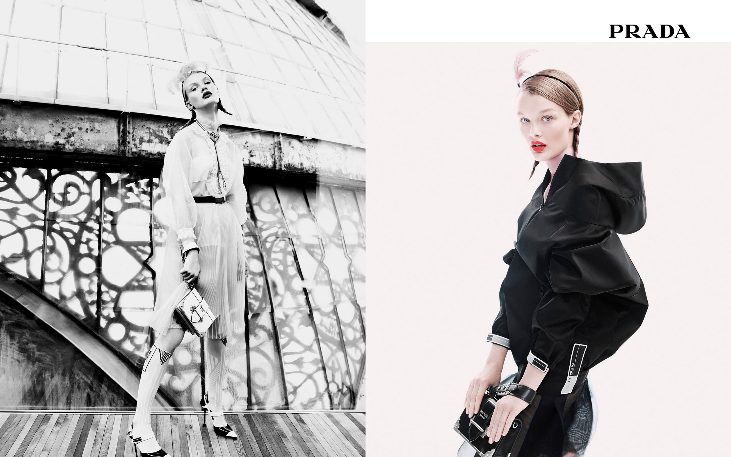 Prada Resort 2018 Advertising Campaign 'Perspectives' & 'Synthesis'