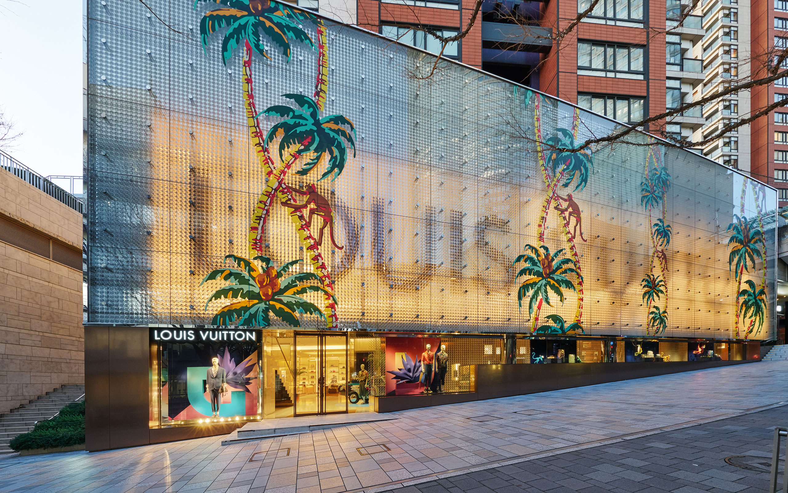 Louis Vuitton Spring Summer 2018 Men's Collection Special Installation At Roppongi