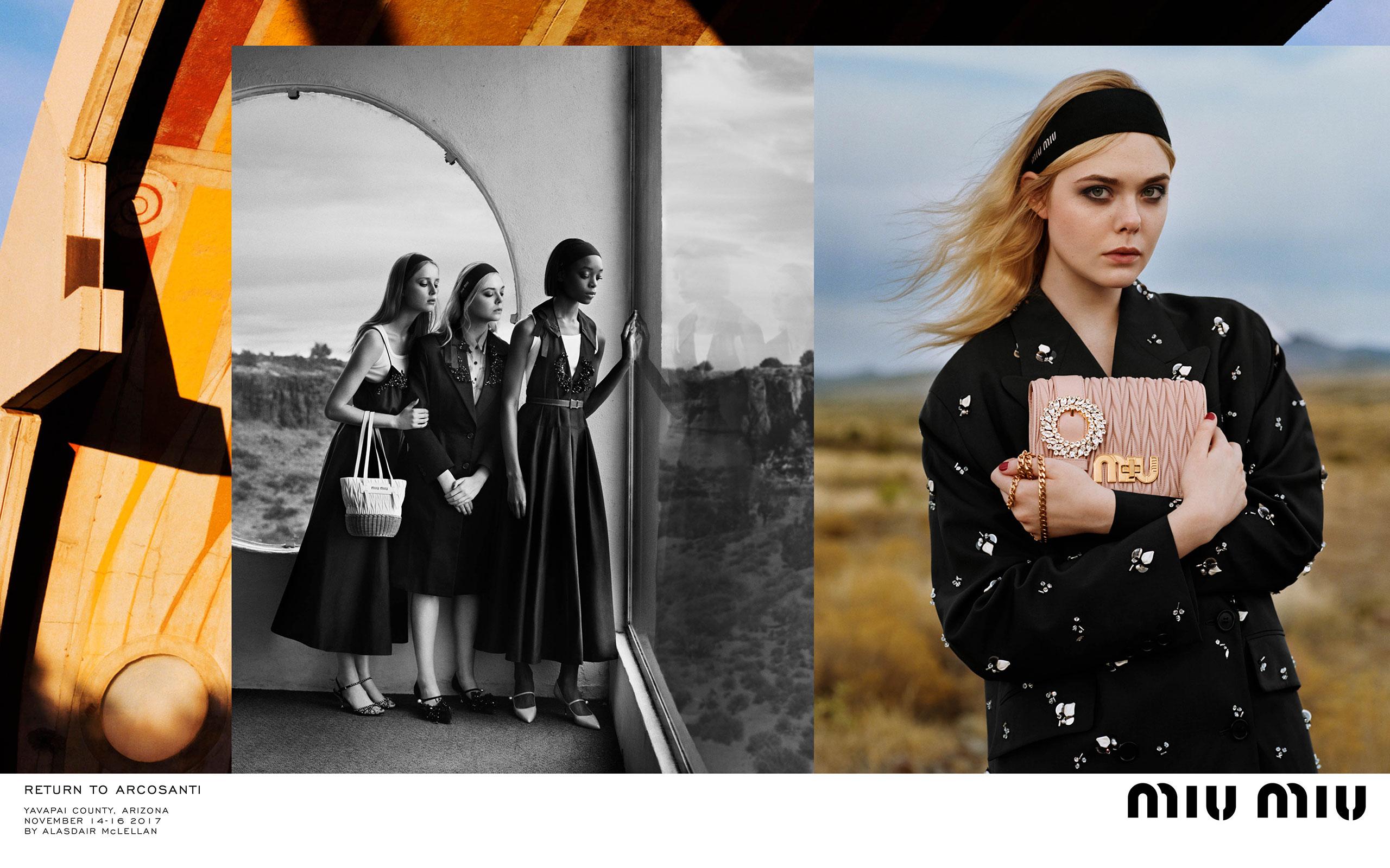 Alasdair McLellan Shots Arcosanti For MIU MIU's SS 2018 Campaign