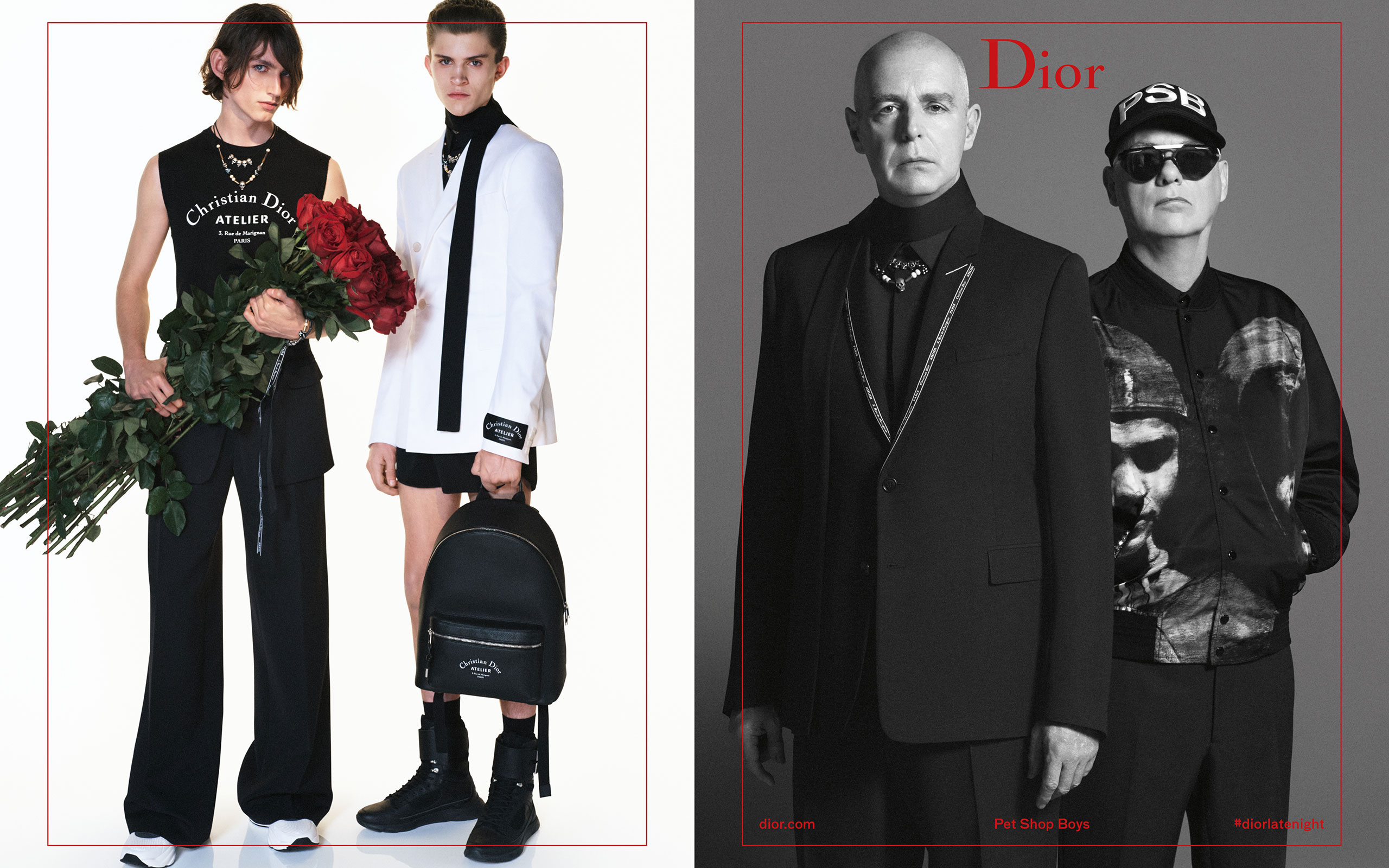 DIOR HOMME's Summer 2018 Campaign Starring Pet Shop Boys