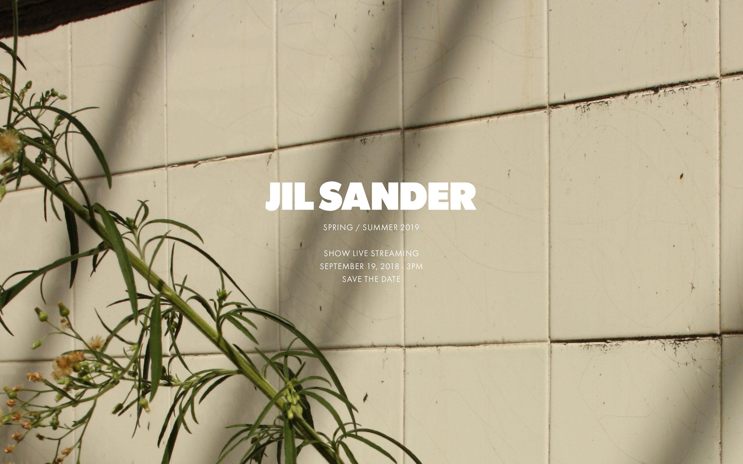 Now On Live: Jil Sander's Spring Summer 2019 Collection
