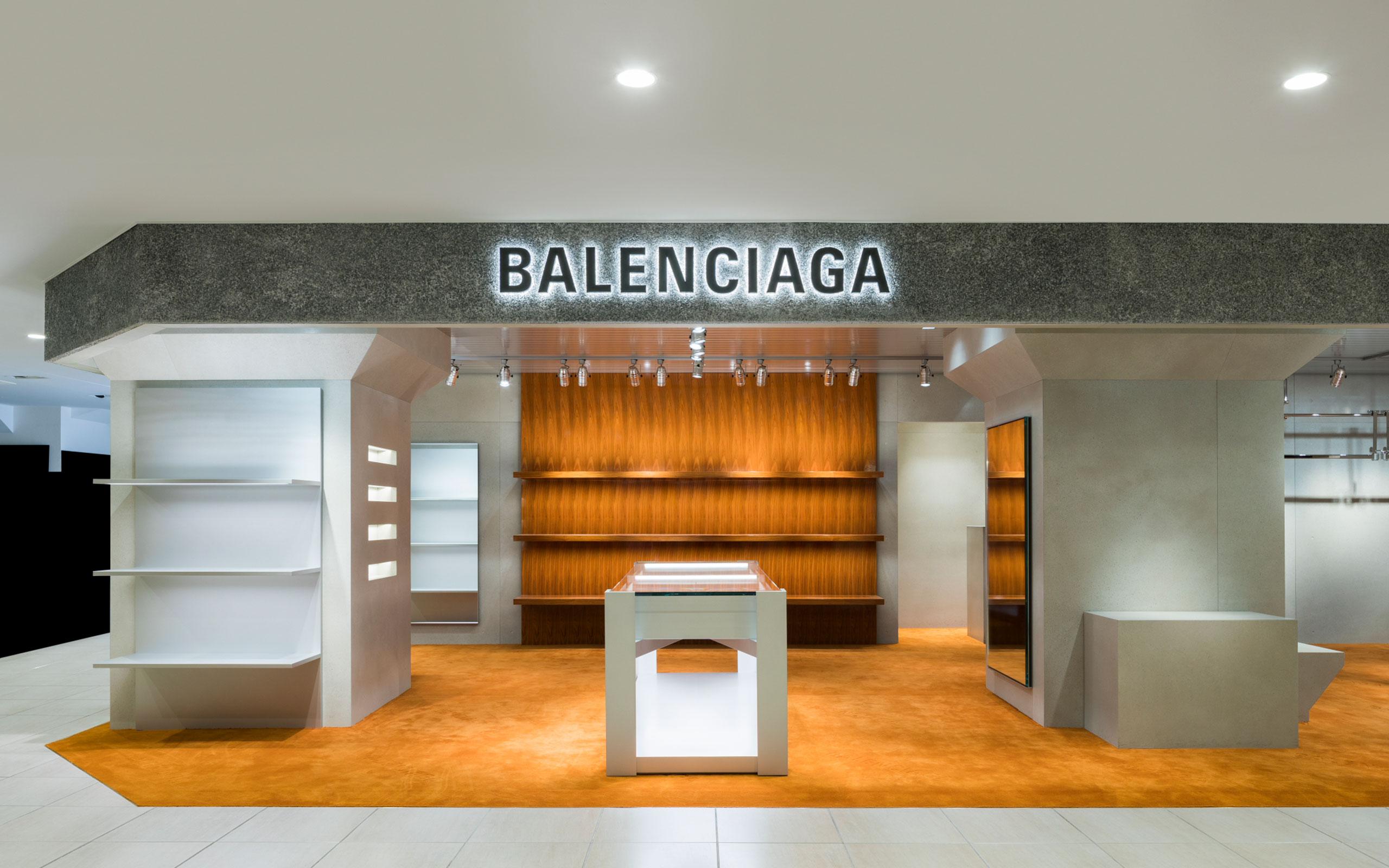 Balenciaga Men's Store Opens In Matsuya Ginza