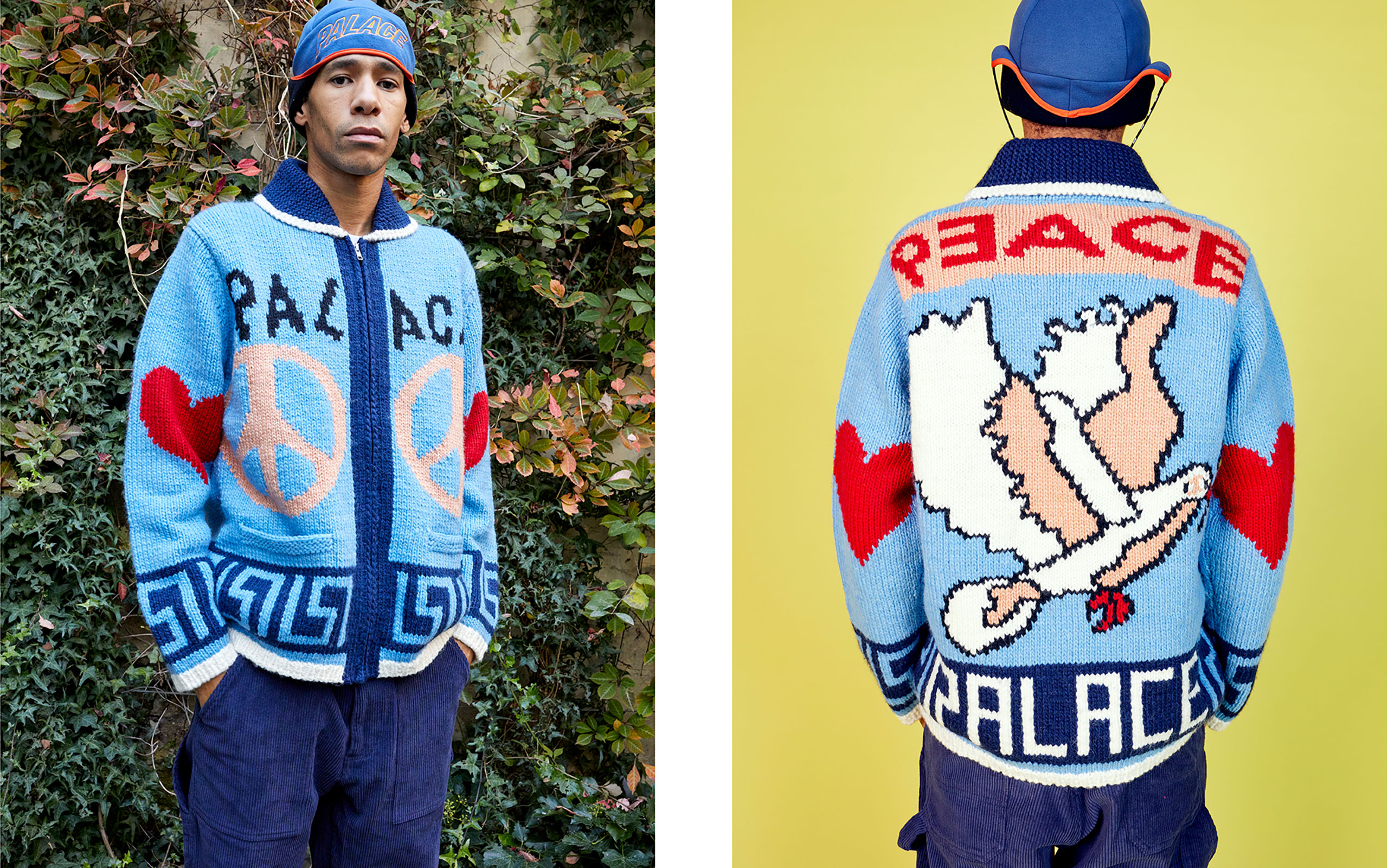 Juergen Teller Shots PALACE SKATEBOARDS' Holiday Collection