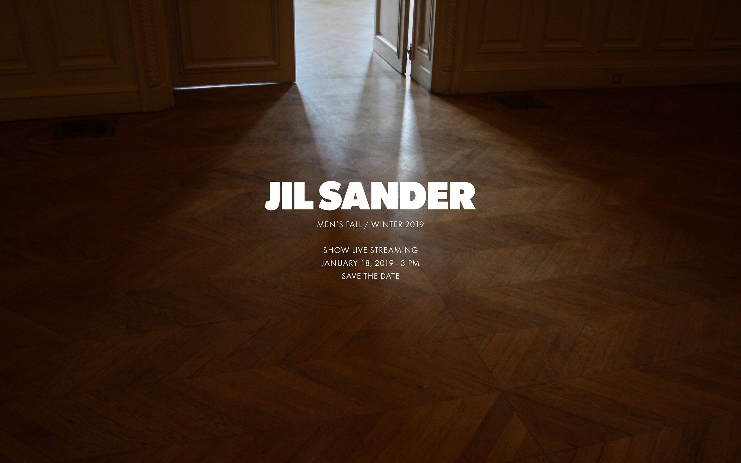 Now On Live: Jil Sander Fall Winter 2019 Men's Collection