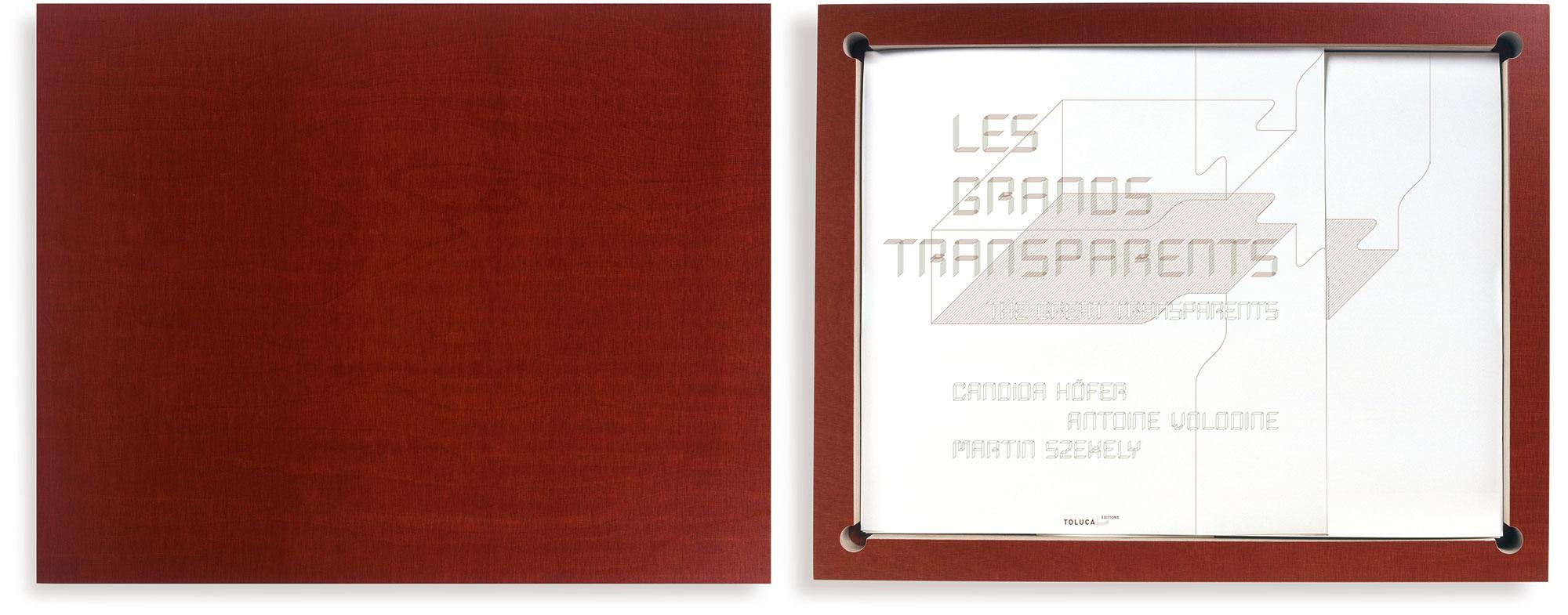Candida Höfer (photos), Antoine Volodine (text), Martin Szekely (case), Les Grands Transparents, 2006 (51,2 x 40,3 x 3,5 cm)
