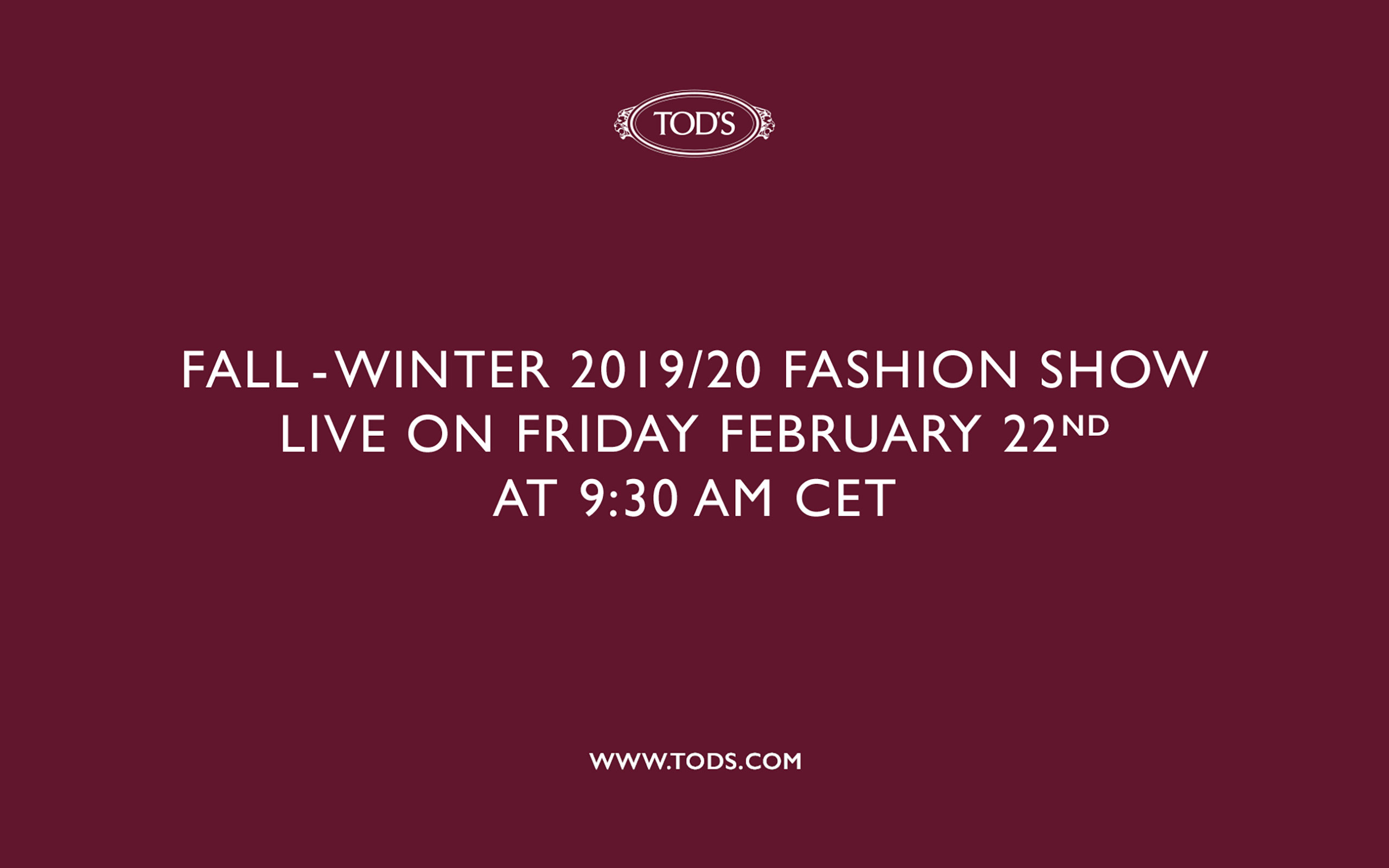 Now On Live: TOD'S Fall Winter 2019/20 Collection