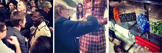 (Left) Burberry on Instagram (Center) Oscar de la Renta on Instagram (Right) Bergdorf Goodman on Instagram