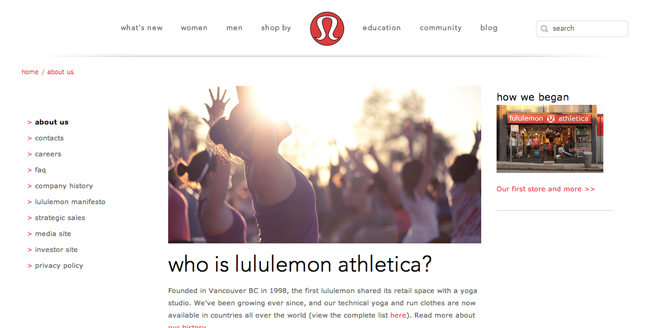 ©Lululemon Athletica
