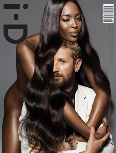 The Artisan Issue (August 2008), staring Stefano Pilati and Naomi Campbell