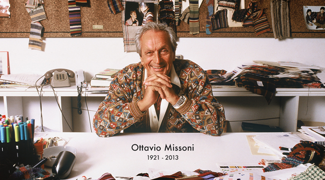 Ottavio Missoni | Source: Missoni HP