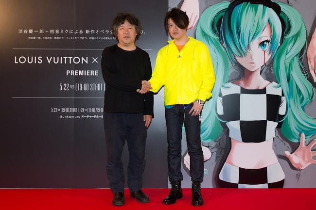 茂木健一郎 & 渋谷慶一郎 © Louis Vuitton