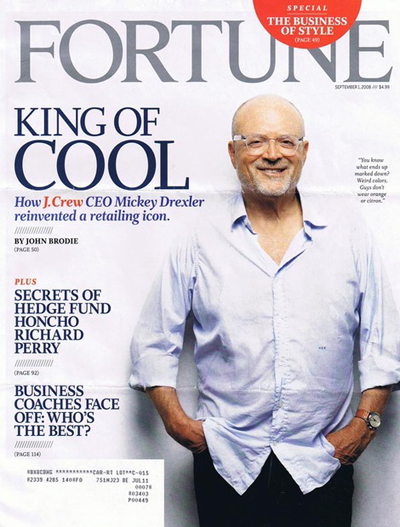 Fortune Magazine September 1 2008 King of Cool Mickey Drexler (Vol. 158 No. 4)