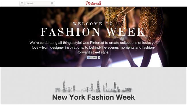 Pintrest Fashion Week