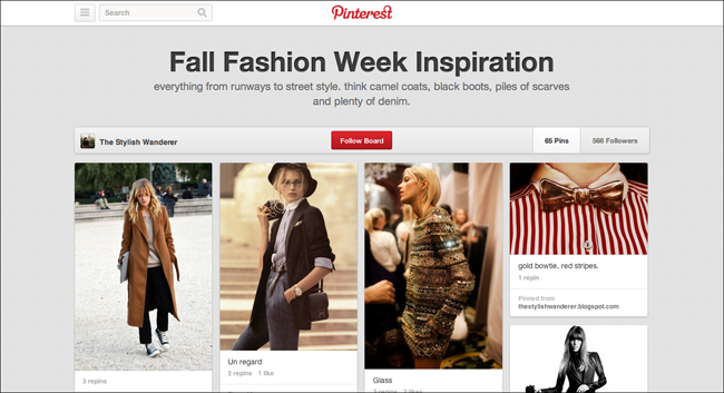 Pintrest Fashion Week