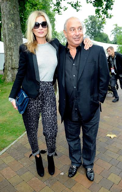 (左) Kate Moss  (右) Sir PHILLIP GREEN