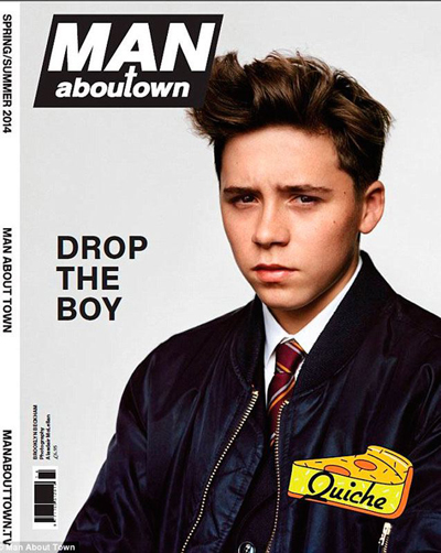 Man About Town spring/summer edition's cover with Brooklyn Beckham