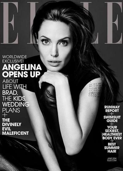 Angelina Jolie for Elle US by Hedi Slimane