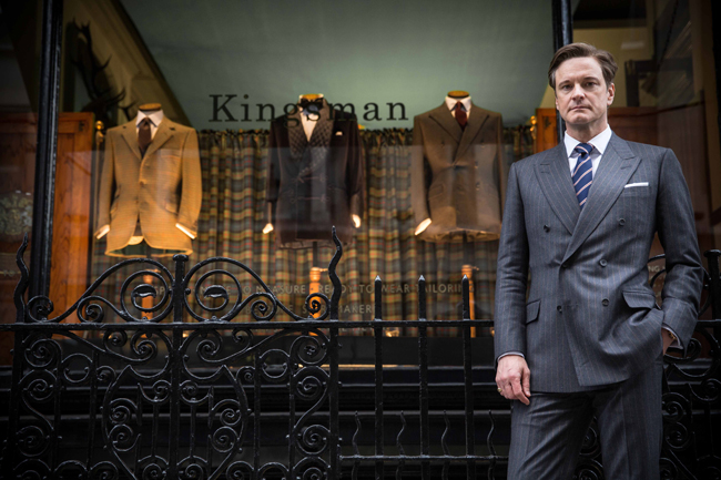Actor Colin Firth in 'Kingsman: The Secret Service'