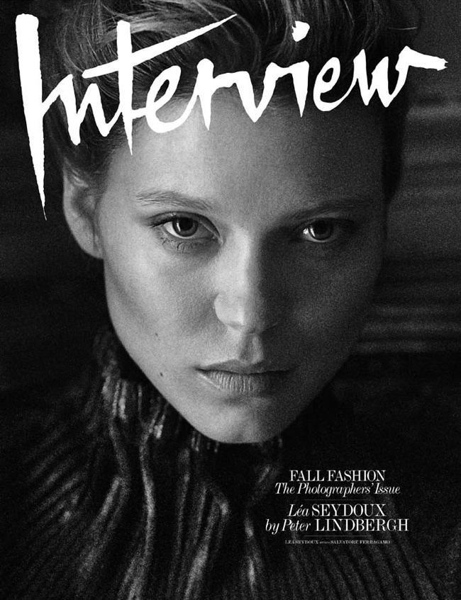 Lea Seydoux by Peter Lindbergh for Interview September 2014