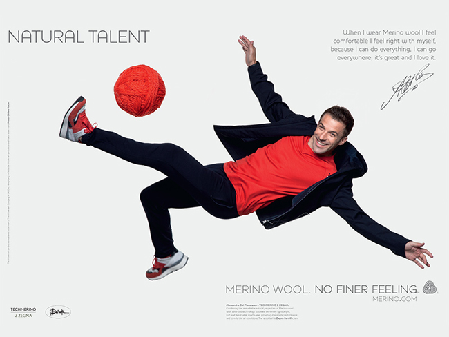 Alessandro Del Piero is Now Merino Wool's  Ambassador
