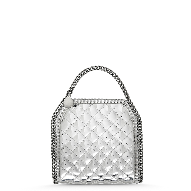 Silver quilted tiny Falabella ¥97,000