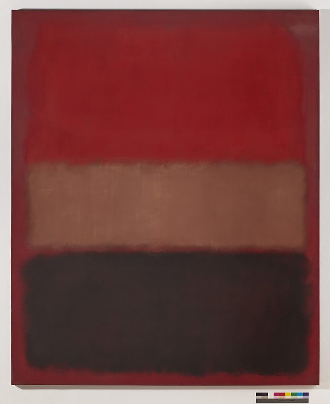 Mark Rothko  | No. 46 [Black, Ochre, Red Over Red], 1957  Huile sur toile